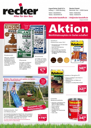 recker aktionsflyer april 2020